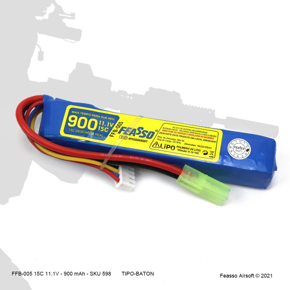FFB-005 Bateria LiPO 15C - 1.1V - 900mAh*