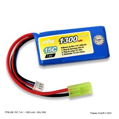 FFB-006 Bateria LiPO 15C - 7.4V- 1300mAh