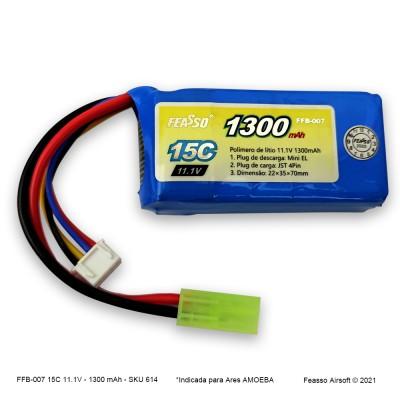 FFB-007 Bateria LiPO 15C - 11.1V - 1300mAh