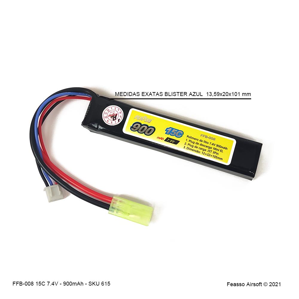 FFB-008 Bateria LiPO 15C - 7.4V - 900mAh*
