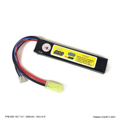 FFB-008 Bateria LiPO 15C - 7.4V - 900mAh
