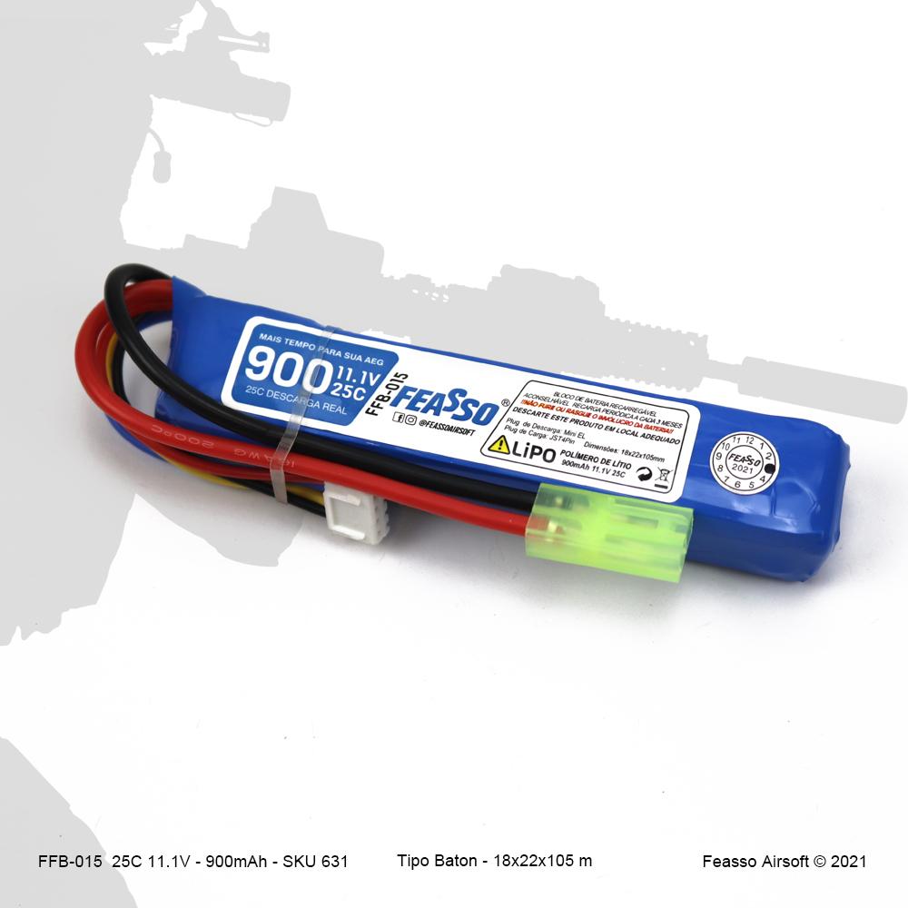 FFB-015 Bateria LiPO 25C - 11.1V - 900mAh*