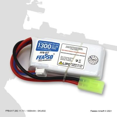 FFB-017 Bateria LiPO 25C - 11.1V - 1300mAh