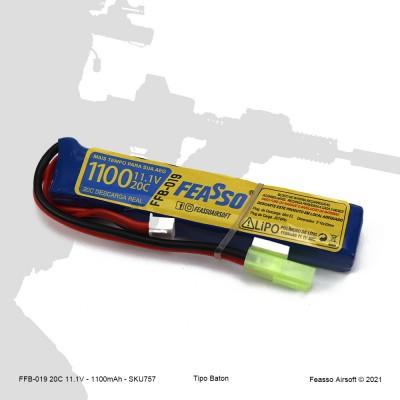 FFB-019 Bateria LiPO 20C - 11.1V - 1100mAh