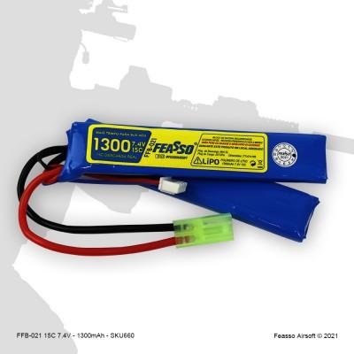 FFB-021 Bateria LiPO 15C - 7.4V - 1300mAh