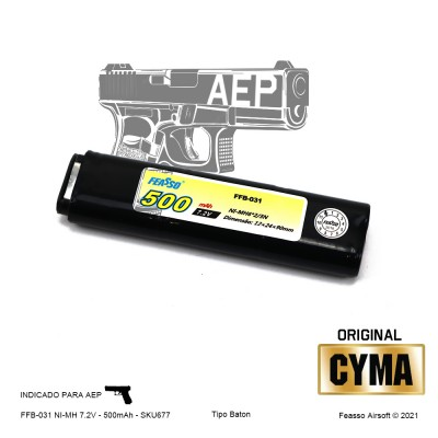 FFB-031 Bateria NiMH  7.2v 500mah - AEP