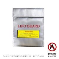 FJA-300- Capa Protetora Antichamas P/ Baterias LiPO* cor Prata