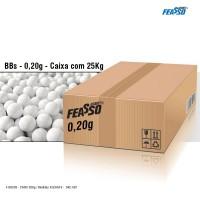 Caixa feasso bbs 0,20g airsoft j-bbs20 c/125.000 (a granel / 25kg)*