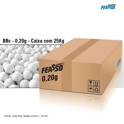 Caixa Feasso Bbs 0,20g Airsoft J-bbs20 C/125.000 (a Granel / 25kg)