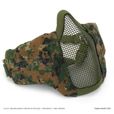 FJA-123 MARPAT - Máscara JERSEY COMFORT de Proteção - P/ AIRSOFT - CAMO  MARPAT