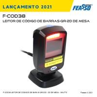 F-COD38 - LEITOR DE CÓDIGO DE BARRAS-QR Code - 1D