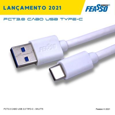 FCT3.0 -  CABO (USB 3.0 X TYPE-C) - c/ 1m
