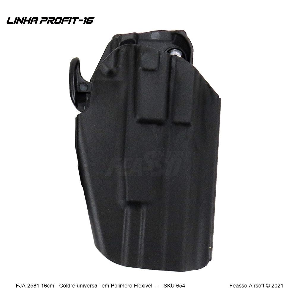 FJA-2581 - Coldre Universal Linha Profit-16cm- Preto*