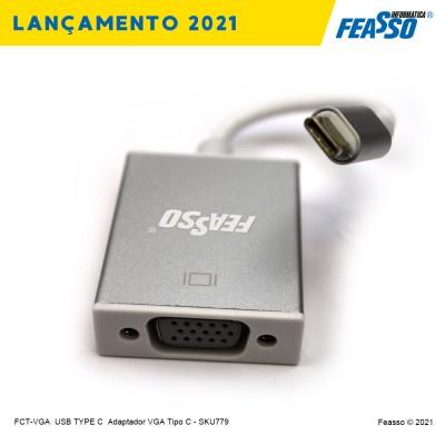 FCT-VGA - CABO ADAPTADOR USB TYPE-C PARA VGA