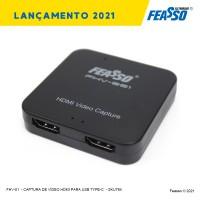FHV-01 - CAPTURA DE VÍDEO HDMI PARA USB TYPE-C