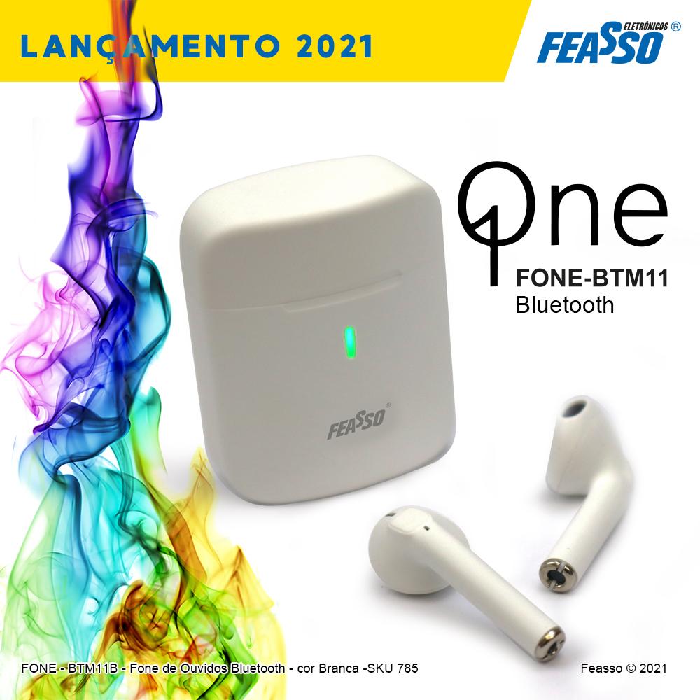 FONE-BTM11B  - Q One - FONE BLUETOOTH - Cor Branca