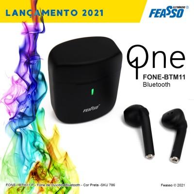FONE-BTM11P  - Q One - FONE BLUETOOTH - Cor Preta
