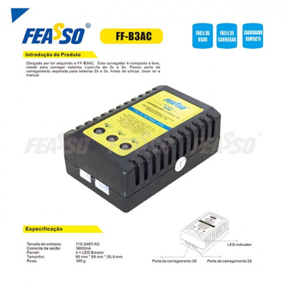 Carregador compacto ff-b3ac*