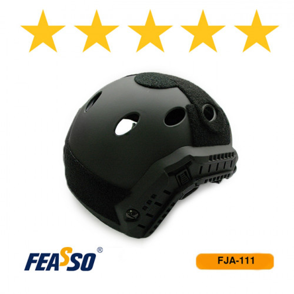 602 - CAPACETE FJA-111 AIRSOFT/PAINTBALL – PRETO*