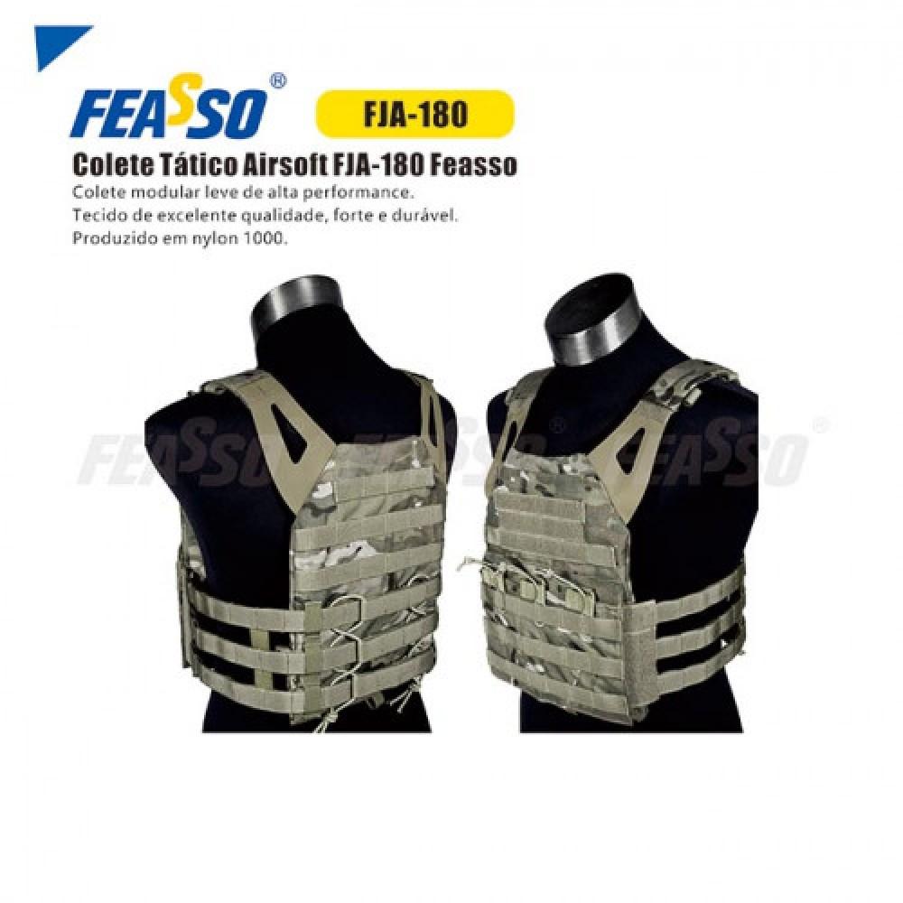 640 - COLETE TATICO FJA-180 VERDE/AREIA AIRSOFT – VERDE/AREIA*