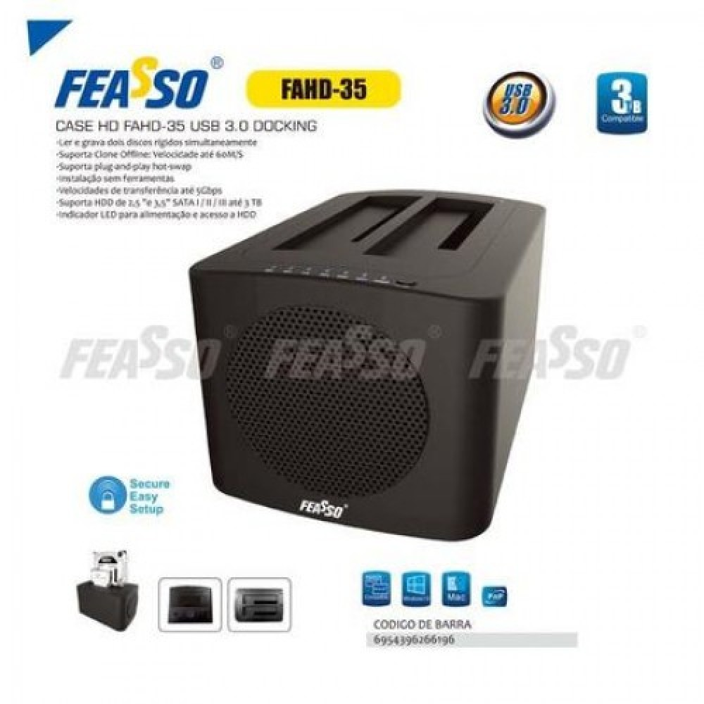 Case hd fahd-35 usb 3.0 docking