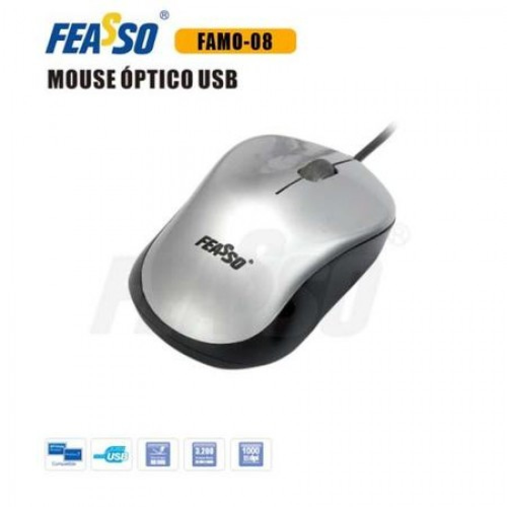 FAMO-08 Mouse USB Prata