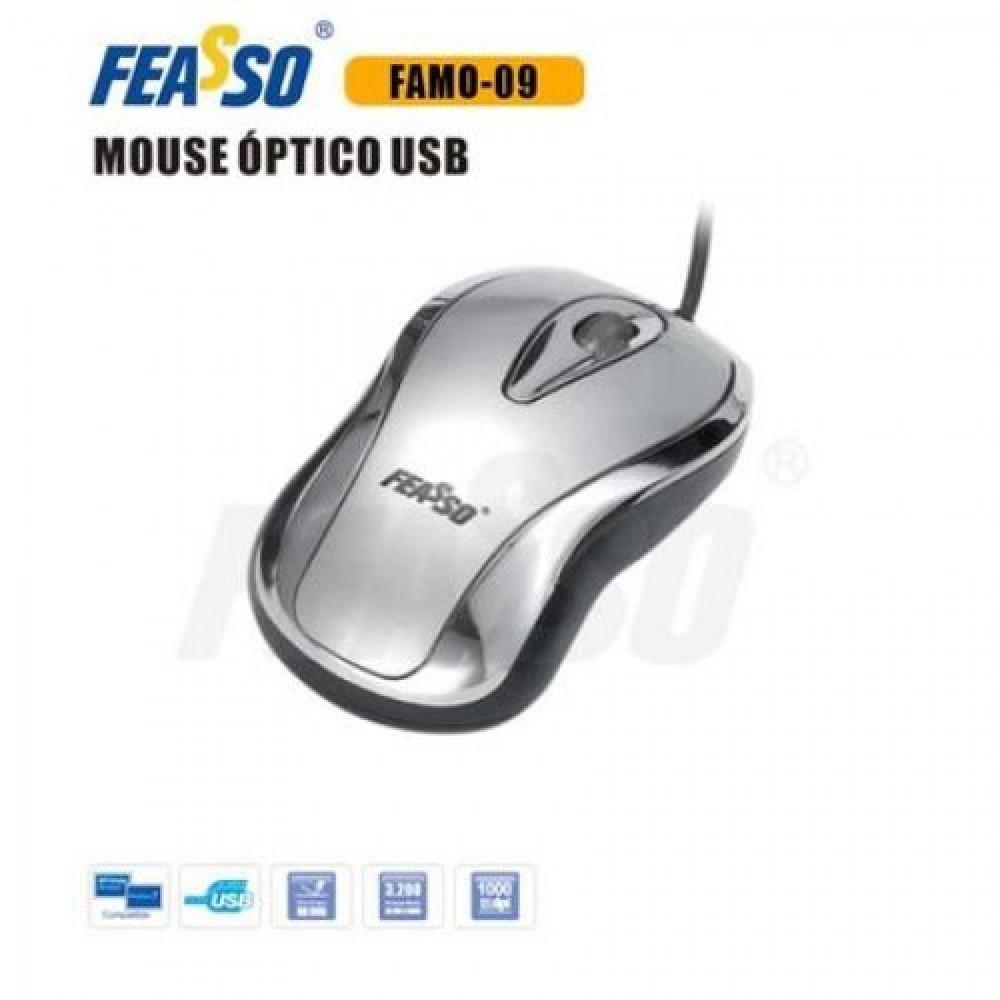 FAMO-09 Mouse USB Prata