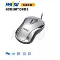 Mouse Famo-09 USB Prata