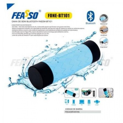 Cx de Som Fasom-bt101 Bluetooth Azul