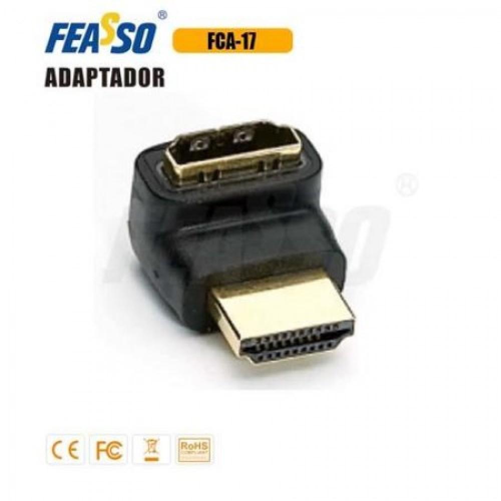 70 - ADAP. FCA-17 HDMI PADRAO M/F (L) 90G. ANGULO RETO***