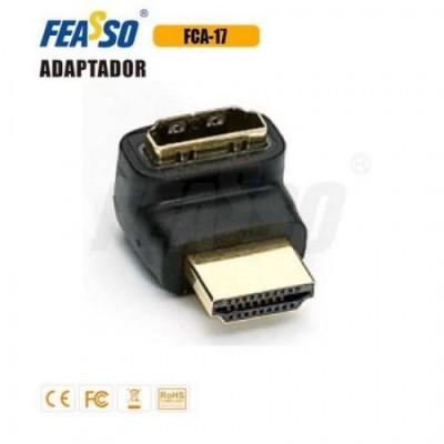 FCA-17 Adap. HDMI Padrão M/F (L) 90g. Ângulo Reto