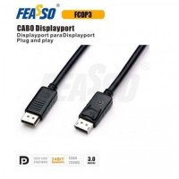 Cabo displayport fcdp3 (dp) 3,00mts - pt