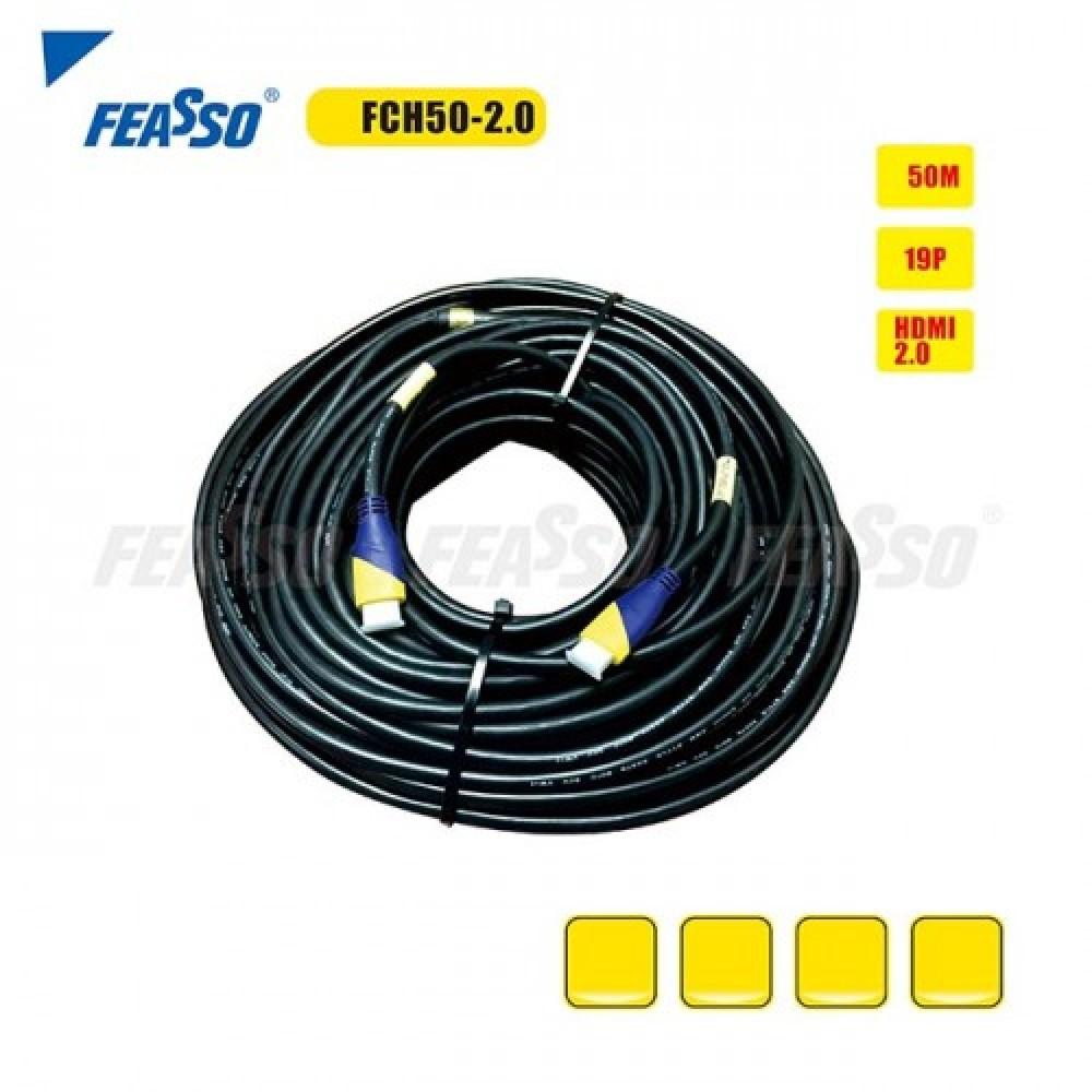 637 - CABO HDMI FCH50-2.0C (HDMI 2.0) 50M ( 3D FULL HD 4K )