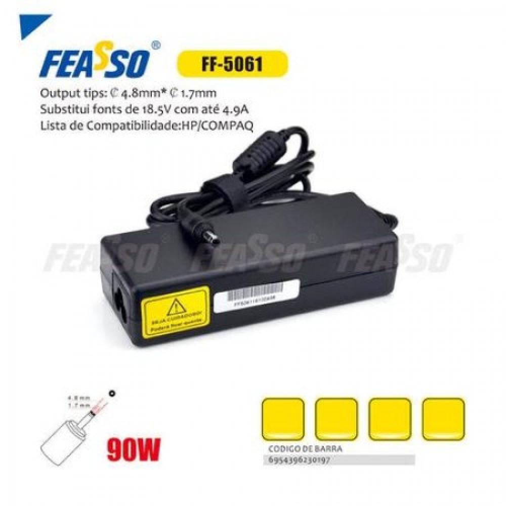 611 - FONTE FF-5061 P/ NOTEBOOK 90W 18.5V 4.9A PLUG4,8X1,7