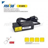 Fonte ff-5075 p/ notebook 40w 20v 2a plug5,5x2,5