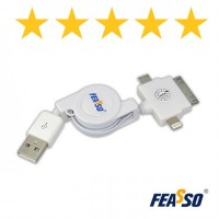 Cabo adap. fi-1203 multi-plug retrátil br***