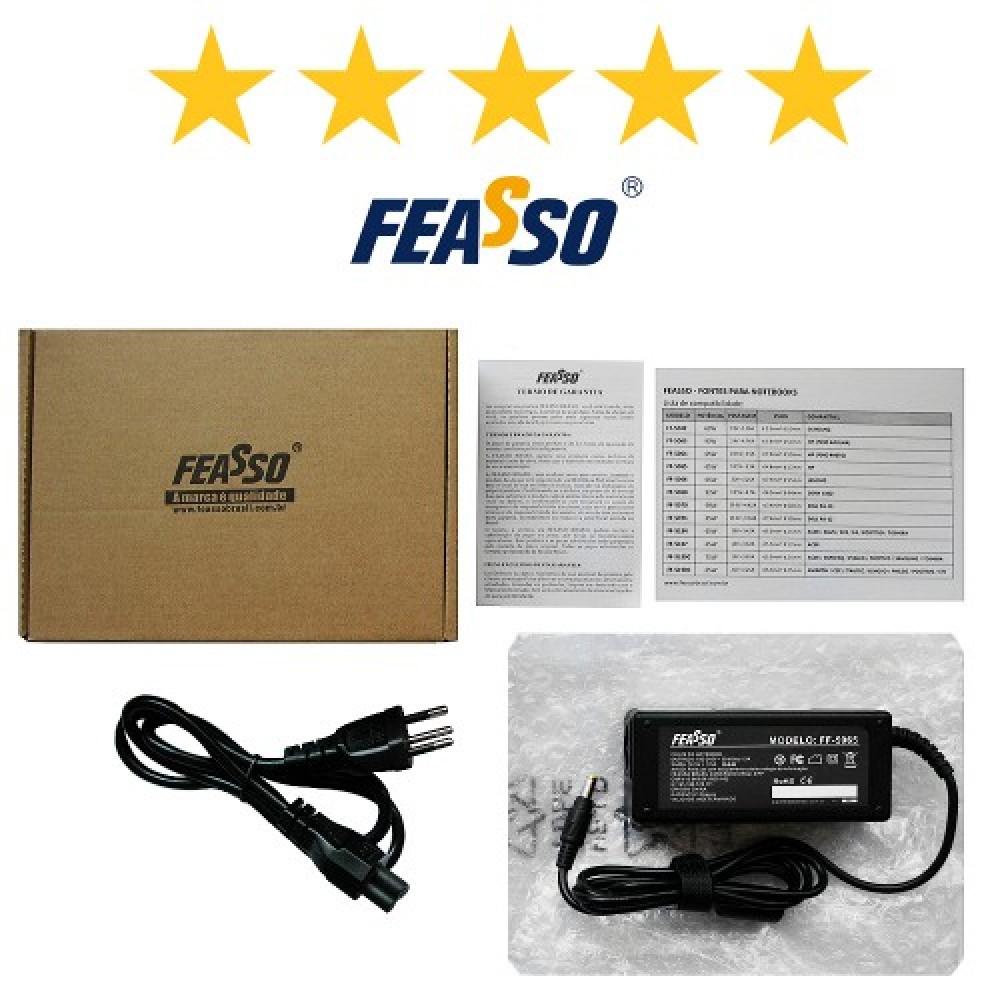 675 - FONTE FF-5067 P/ NOTEBOOK 90W 20V 3.25A PLUG RETANGULAR