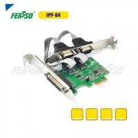 Placa pci-e jpp-04 p/impr. expr. 2p/ser.+1p/par. pb