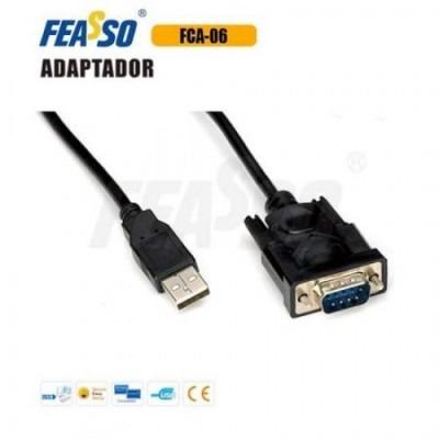 FCA-06 Cabo Adap. USB x Serial Rs-232 DB9 - P/Impressora - 1,2M - Preto