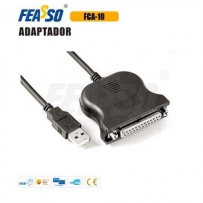 FCA-10 Cabo Adap USB x Paralelo DB-25 Femea