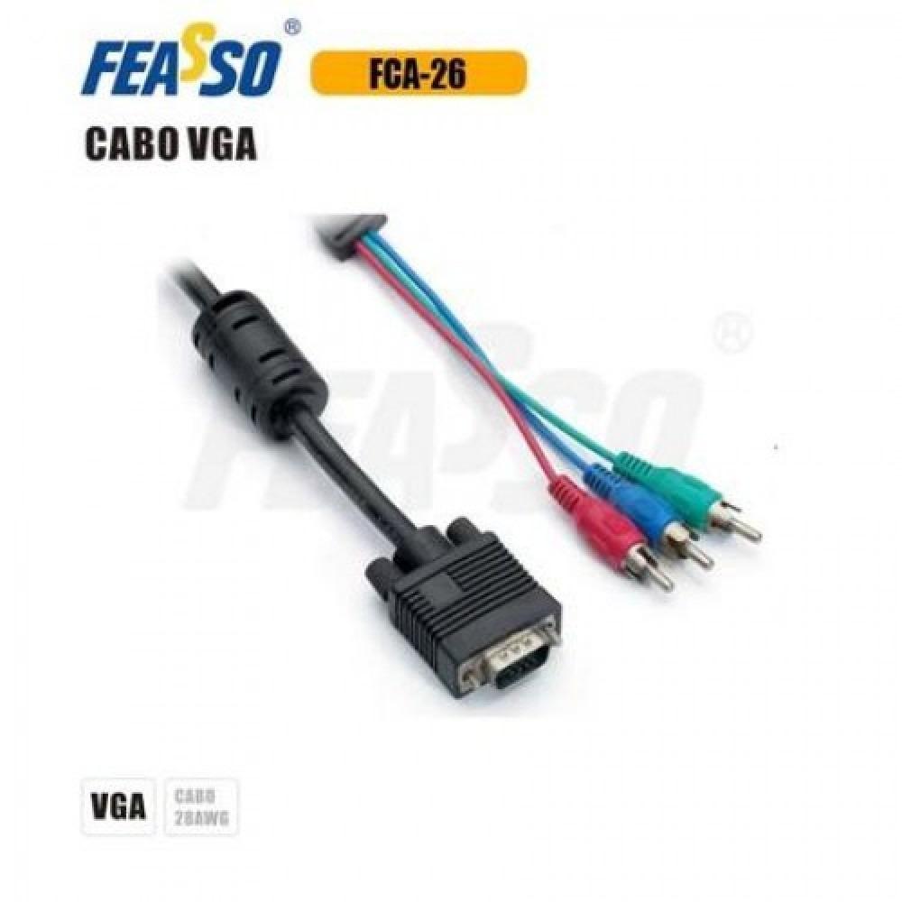 Cabo Vga fca-26 Cga x Vídeo Componente