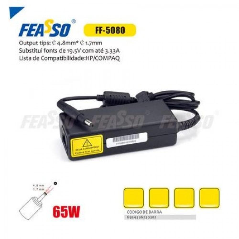 Fonte ff-5080 p/ notebook 65w 19.5v 3.33a plug4,8x1,7