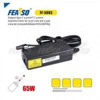 613 - FONTE FF-5083 P/ NOTEBOOK 65W 19.5V 3.33A PLUG4,5X3,0