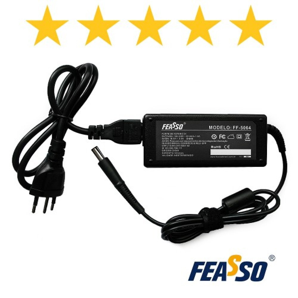 565 - FONTE FF-5064 P/ NOTEBOOK 65W 18.5V 3.5A PLUG7,4X5,0