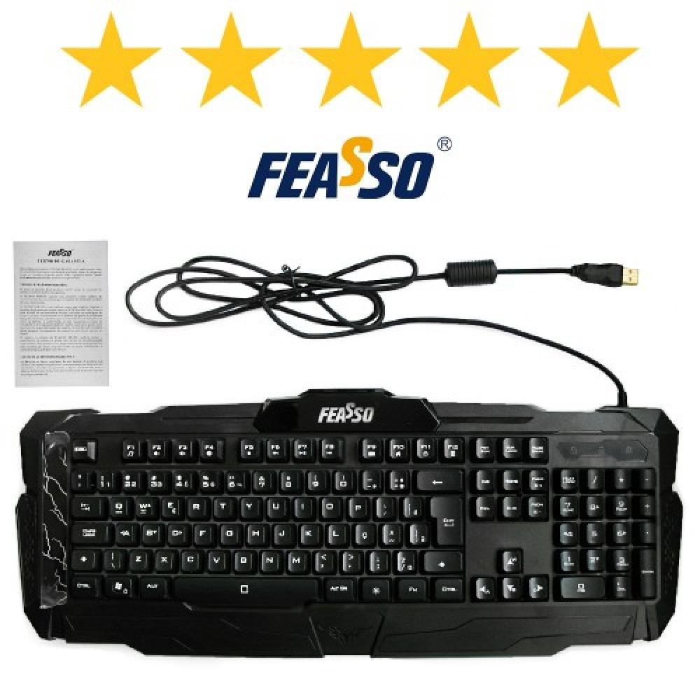 Teclado gamer fatc-78 usb preto***