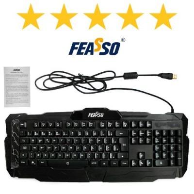 Teclado Gamer Fatc-78 Usb Preto