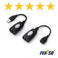 332 - CABO ADAP. FCA-90 USB 2.0 P/ RJ45 CAT5-5E-6 - ATE 45MTS