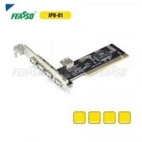 Placa pci jpu-01 usb 2.0 via 4+1 portas