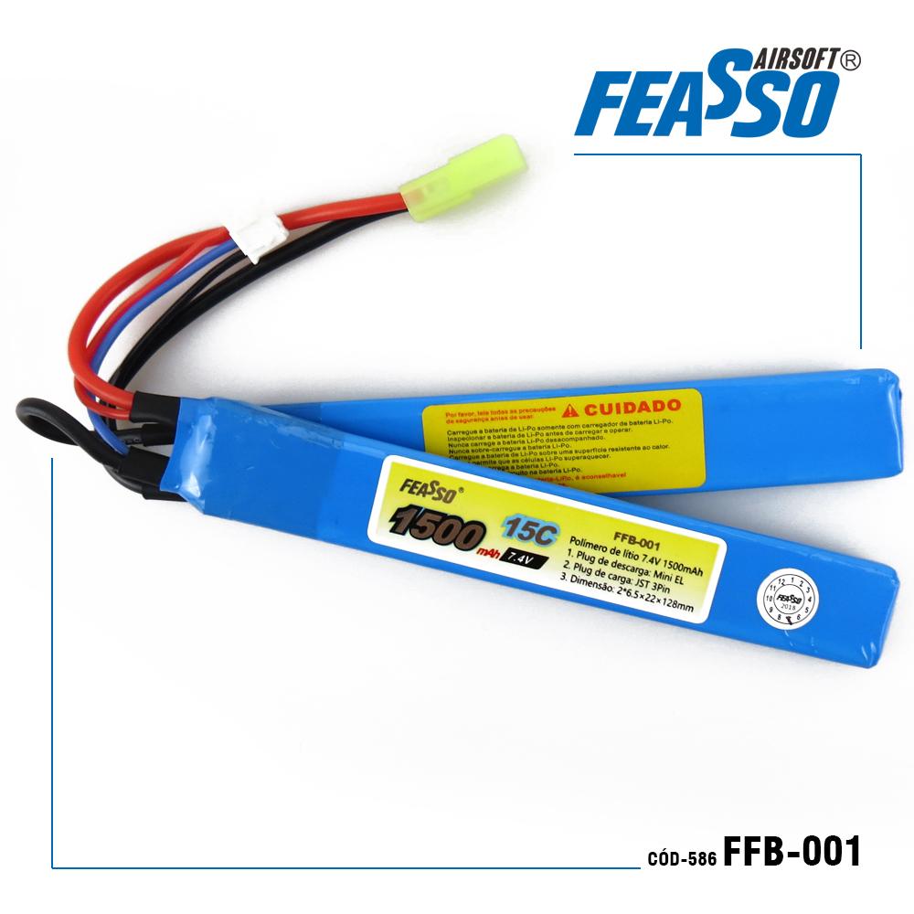 586 - BATERIA FFB-001 (15C) 7.4V 1500mAh*