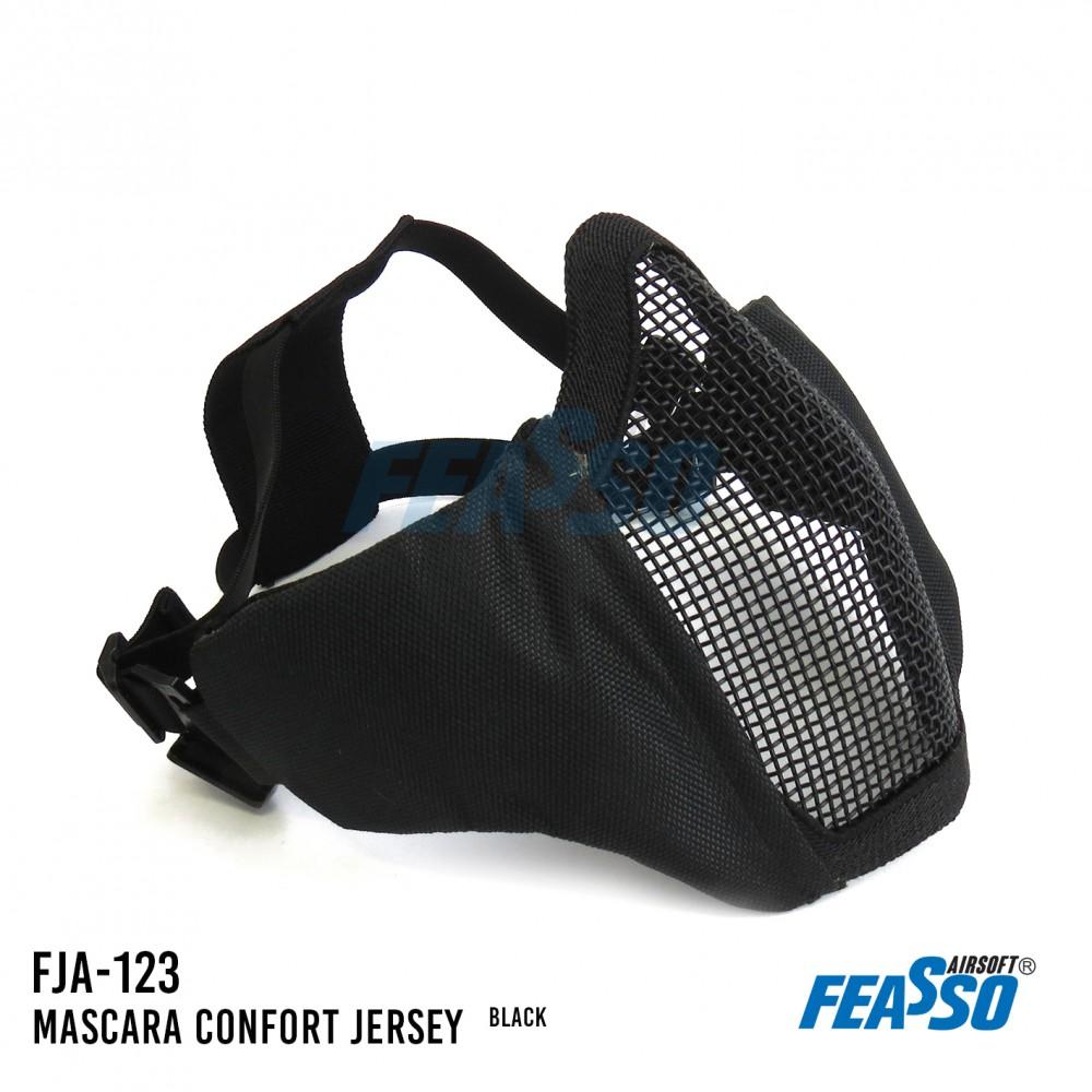 741 - MASCARA JERSEY COMFORT FJA-123 AIRSOFT PRETA*